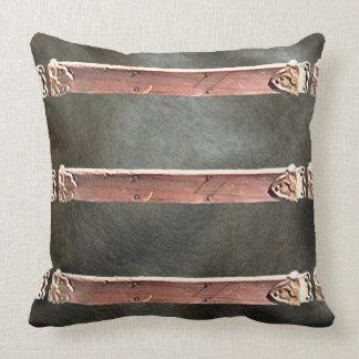 Vintage Leather Steampunk Goth CricketDiane Throw Pillow