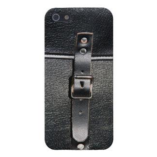 Vintage leather strap lock iPhone 5 case