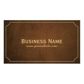 Vintage Leather Swim Instructor Business Card
