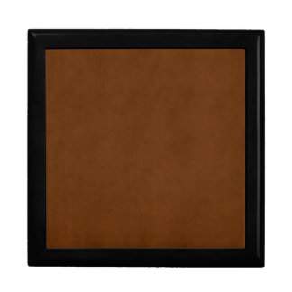 Vintage Leather Tanned Brown Parchment Paper Gift Box