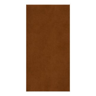Vintage Leather Tanned Brown Parchment Paper Photo Card