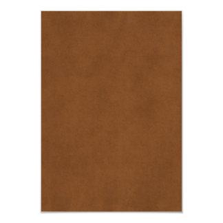 Vintage Leather Tanned Brown Parchment Paper Templ Card
