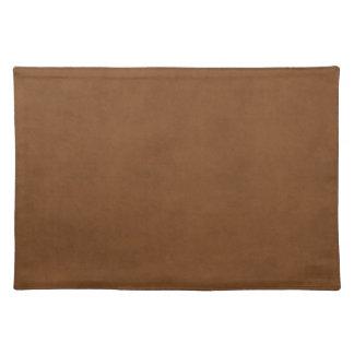 Vintage Leather Tanned Brown Parchment Paper Templ Cloth Placemat