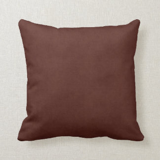 Vintage Leather Tanned Brown Parchment Paper Throw Pillow