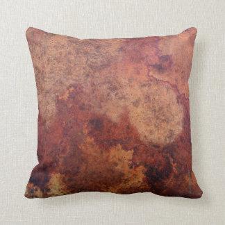 Vintage Leather Throw Pillow