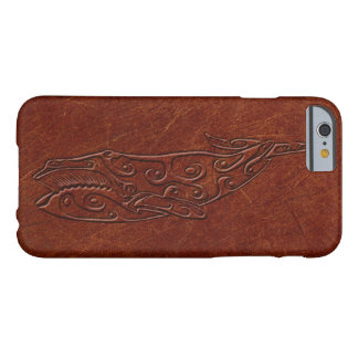 Vintage Leather Tribal Whale Print Barely There iPhone 6 Case