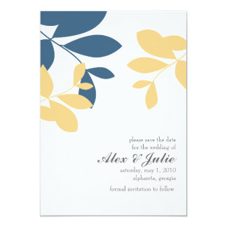 vintage leaves save the date announcements