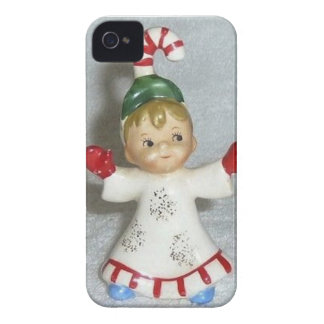 Vintage Lefton Christmas Candy Cane Kid iPhone 4 Cover