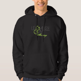 VINTAGE LEGALIZE GAY MARRIAGE LESBIAN PROP H8 HOODED SWEATSHIRTS