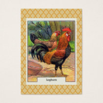 Vintage Leghorn Chicken Business Card