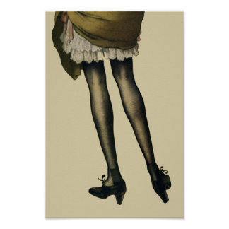 Vintage Legs Print