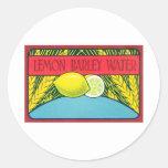 Vintage Lemon Barley Water Label Sticker