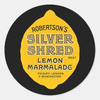 Vintage Lemon Marmalade Label Stickers