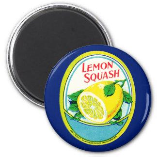 Vintage Lemon Squash Label Fridge Magnet