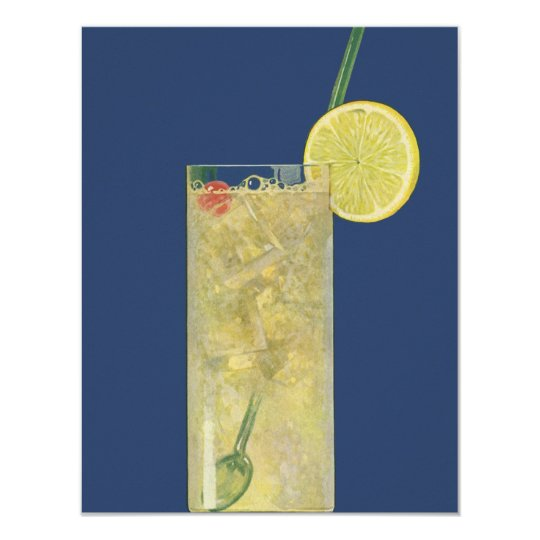 Vintage Lemonade or Fruit Soda, Drinks Beverages Card