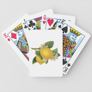 Vintage Lemons Illustration Bicycle Playing Cards