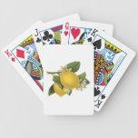 Vintage Lemons Illustration Playing Cards