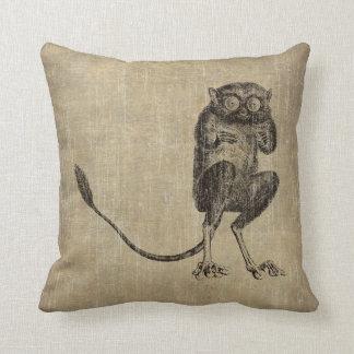 Vintage Lemur Throw Pillow