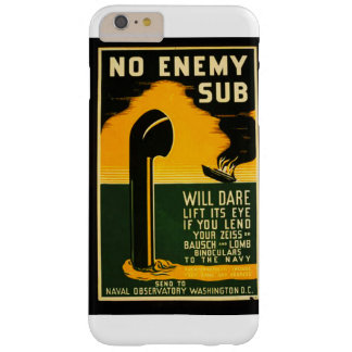 Vintage Lend Binoculars to the Navy WPA Poster Barely There iPhone 6 Plus Case