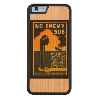 Vintage Lend Binoculars to the Navy WPA Poster Carved Cherry iPhone 6 Bumper Case