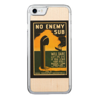 Vintage Lend Binoculars to the Navy WPA Poster Carved iPhone 7 Case