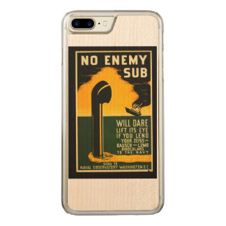 Vintage Lend Binoculars to the Navy WPA Poster Carved iPhone 7 Plus Case