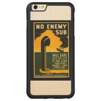 Vintage Lend Binoculars to the Navy WPA Poster Carved Maple iPhone 6 Plus Bumper Case