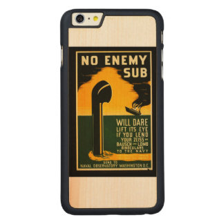 Vintage Lend Binoculars to the Navy WPA Poster Carved Maple iPhone 6 Plus Slim Case