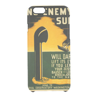Vintage Lend Binoculars to the Navy WPA Poster Clear iPhone 6/6S Case