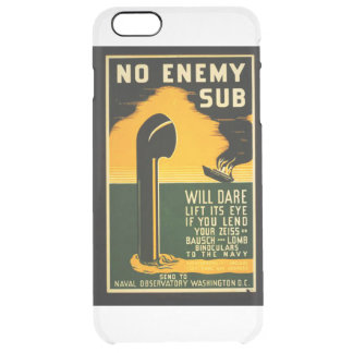 Vintage Lend Binoculars to the Navy WPA Poster Clear iPhone 6 Plus Case