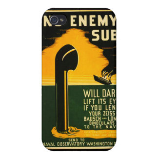 Vintage Lend Binoculars to the Navy WPA Poster iPhone 4 Cover