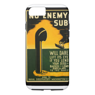 Vintage Lend Binoculars to the Navy WPA Poster iPhone 7 Case