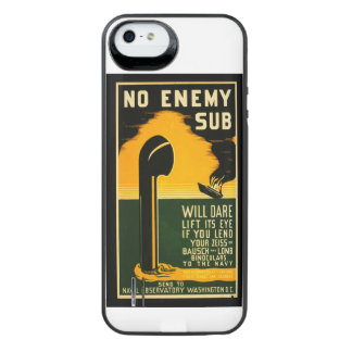 Vintage Lend Binoculars to the Navy WPA Poster iPhone SE/5/5s Battery Case