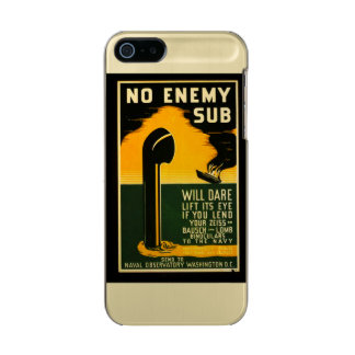 Vintage Lend Binoculars to the Navy WPA Poster Metallic Phone Case For iPhone SE/5/5s