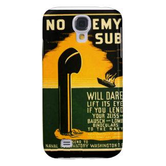 Vintage Lend Binoculars to the Navy WPA Poster Samsung S4 Case