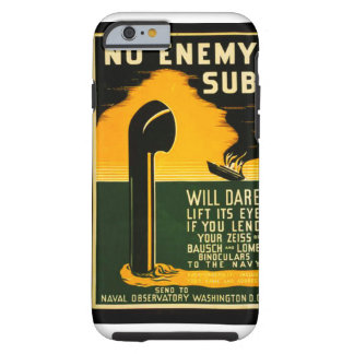 Vintage Lend Binoculars to the Navy WPA Poster Tough iPhone 6 Case