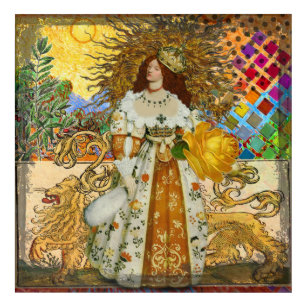Lion Woman Art Wall Décor Zazzle