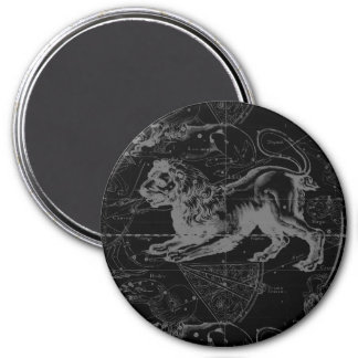 Vintage Leo Constellation MapHevelius 1690 Magnet