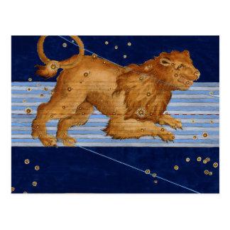 Vintage Leo Constellation Postcard
