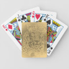 Vintage Leopard Face Close-Up Bicycle Playing Cards