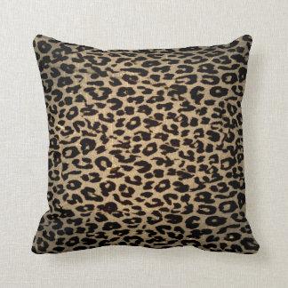 Vintage Leopard Print Skin Fur Throw Pillows