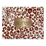 "Vintage Leopard RSVPs require 5x7 invitations 4.25"" X 5.5"" Invitation Card"
