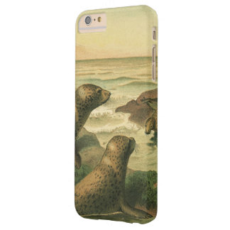 Vintage Leopard Seals, Marine Life Aquatic Animals Barely There iPhone 6 Plus Case