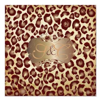 Vintage Leopard spots + swirls Card