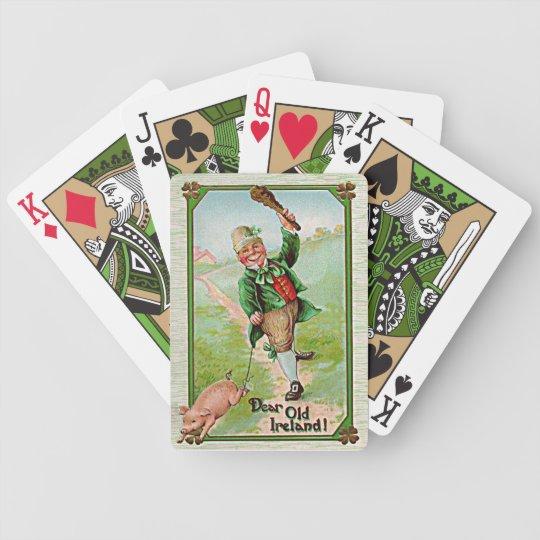 vintage leprechaun cards