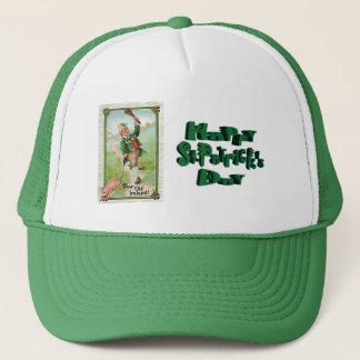vintage leprechaun trucker hat
