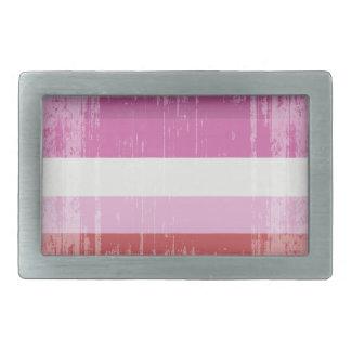 Vintage Lesbian Stripes.png Belt Buckle