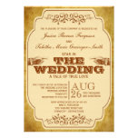 Vintage Lesbian Wedding Theatre Production Invitations