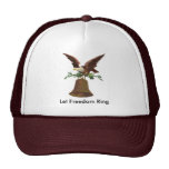 Vintage Let Freedom Ring Mesh Hats