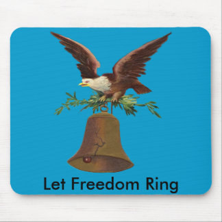 Vintage Let Freedom Ring Mouse Pad